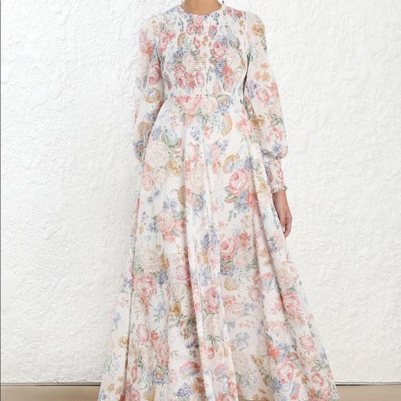 31dcc9a035ce1 Zimmermann Dresses | Bowie Shirred Bodice Dress | Poshmark